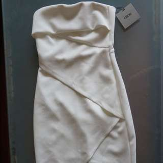 Bandeau White Dress Size 6