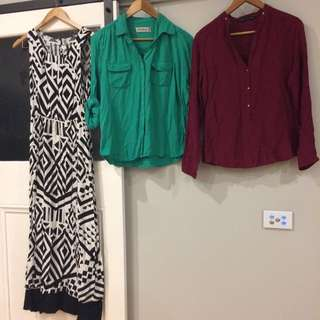 Bundle Shirts And Maxi Dress - Peter Morrissey And Zara