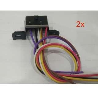 2x OBD2 OBDII Diagnostic Pigtail Connector Harness Corvette CAN Bus Class 2 E67 E38