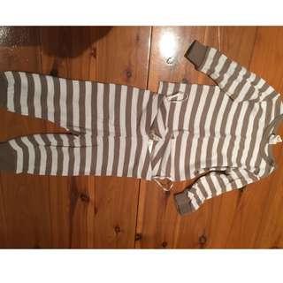 H&M baby pajamas size 1-2M