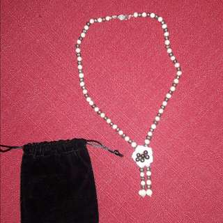 Sale! Fresh Water Black & White Pearl Necklace