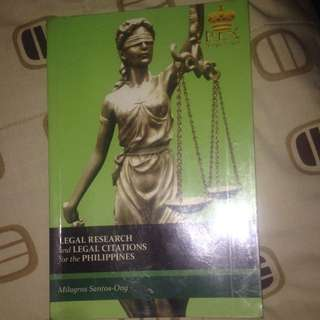 Law Book (legal Research) By Milagros Ong