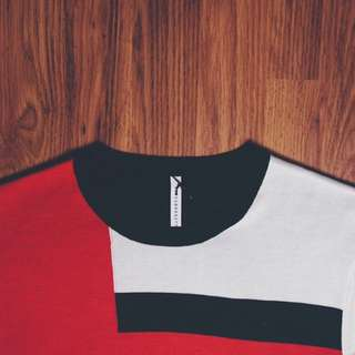 Black Barret By Neil Barret Red/White/Black Sweater