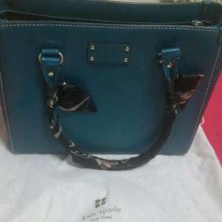 Dark Green Kate Spade Bag  (Handle Scarf included)