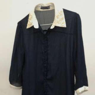 七分袖雪紡襯衫