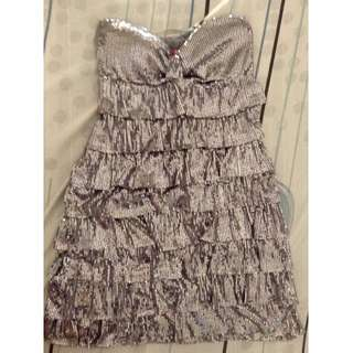 Tube sequins dress(Silver)