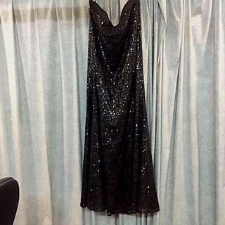 Black Zalia Sequin Skirt