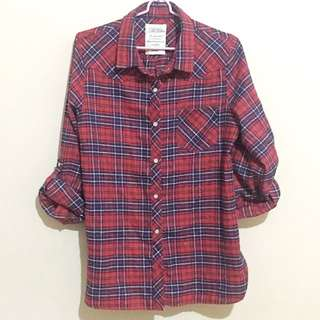 Plaid polo (long sleeves)