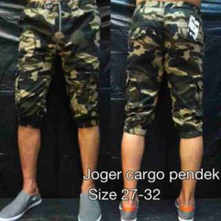 Jogger Short Pants Army Cargo Green / Joger Pendek Army Kargo Hijau