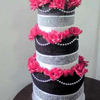 Wedding Cake Towel Cake