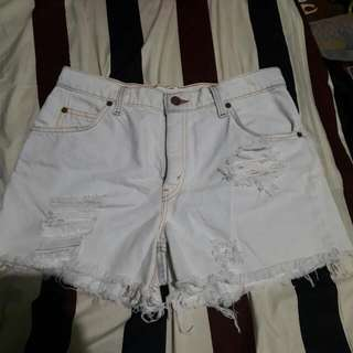 Ripped HW Levi's Shorts