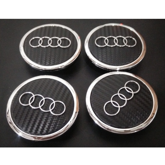 X Wheel Center Caps For Audi A Carbon Fiber Face Carbone - Audi wheel center caps