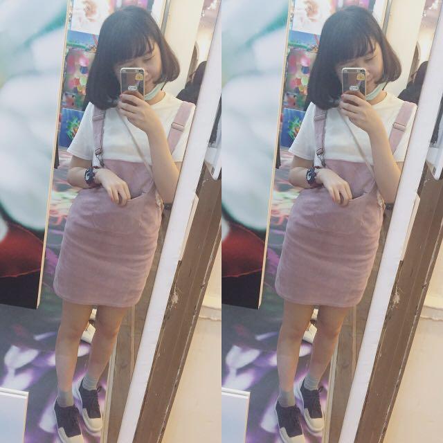 粉紅吊帶裙(含運代售)