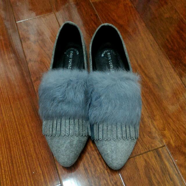 (全新)毛毛牛津平底娃娃鞋 38號