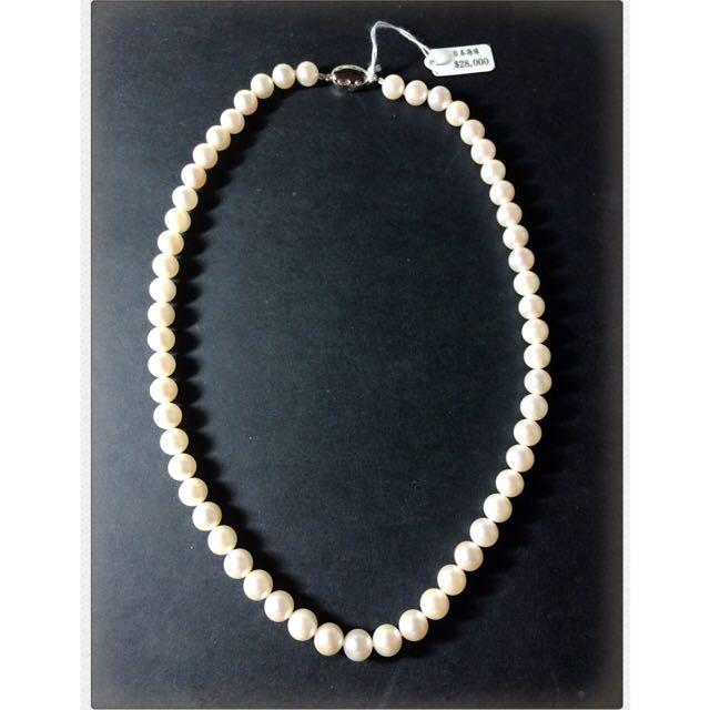 Akoya純銀珍珠項鍊(短)