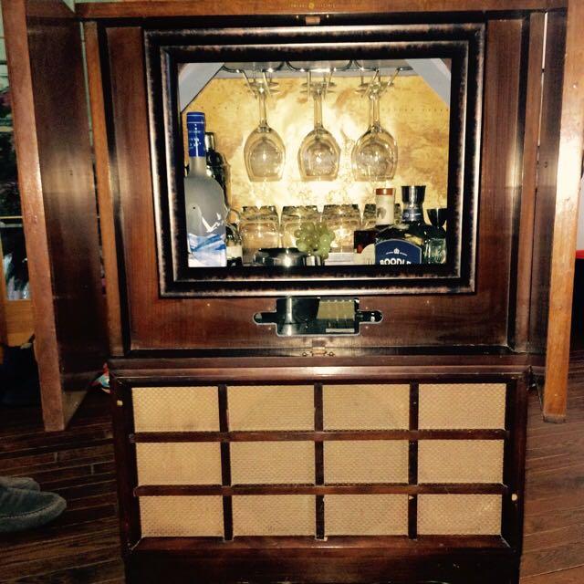 Antique TV Bar Price REDUCED