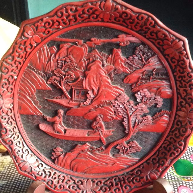 Antique Wood Plate