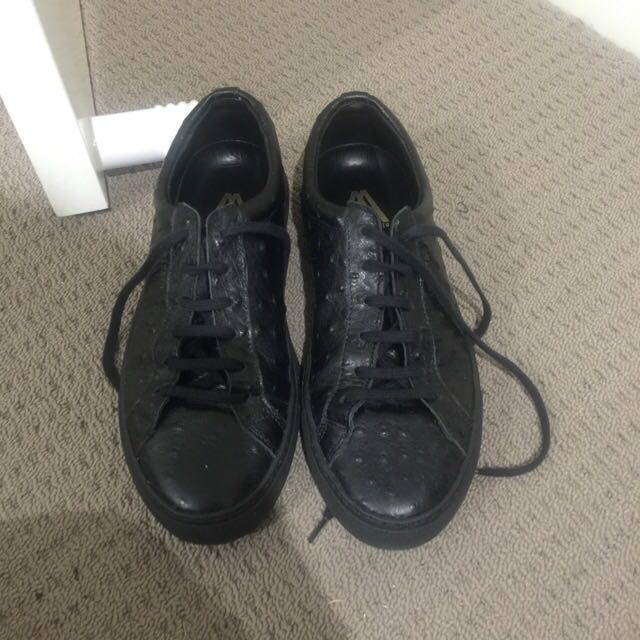 Axel Arigato Black Croc Shoes