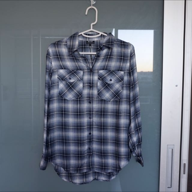 Bardot Checkered Shirt Size 6