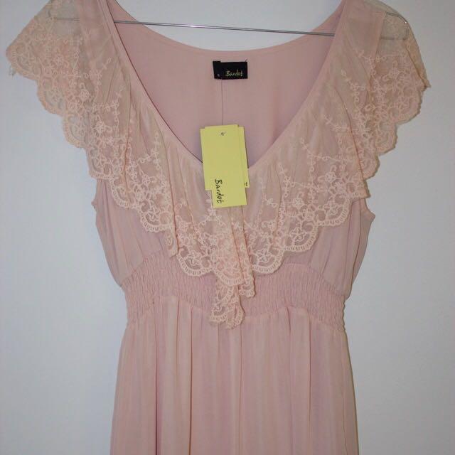 Bardot Lace Pink Dress