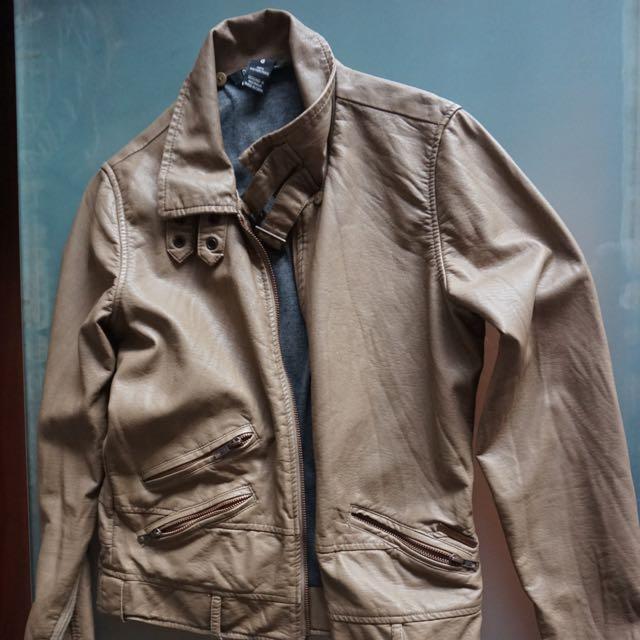 Billabong Leather Jacket Size 8