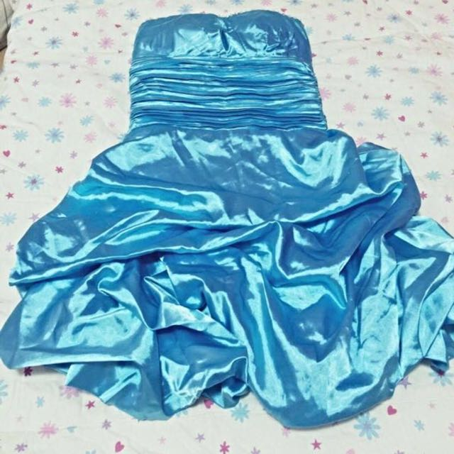 🌸BLUE COCKTAIL DRESS