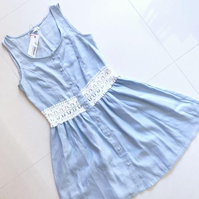 BNWT Chambray Lace Dress