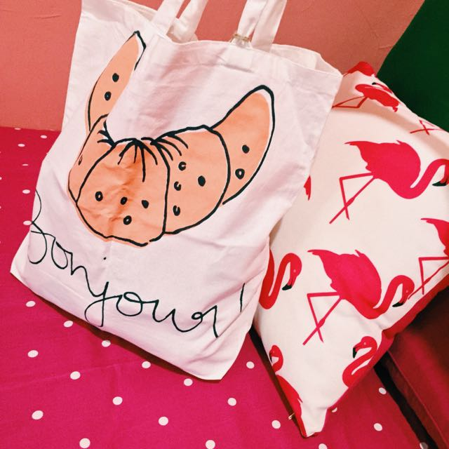 Bonjour Tote Bag by Cotton On