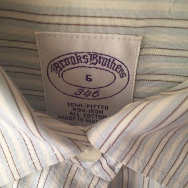 Brooks Brothers 藍色條紋襯衫