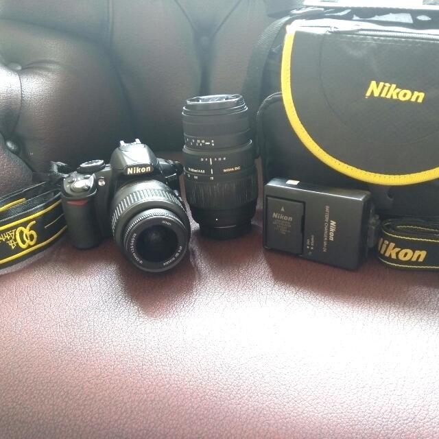 Camera NIKON DSLR D3100 + 2 Lensa ( Borongan )