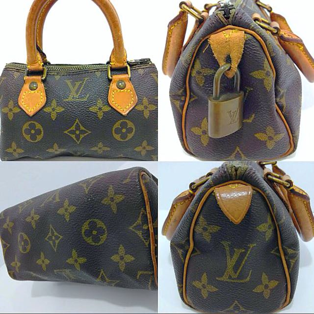 cbd721c445c6c clearance  Authentic Louis Vuitton Monogram Mini Speedy Bag