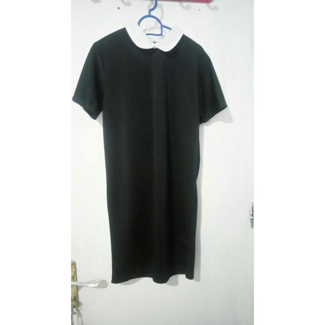 Collar Black Dress