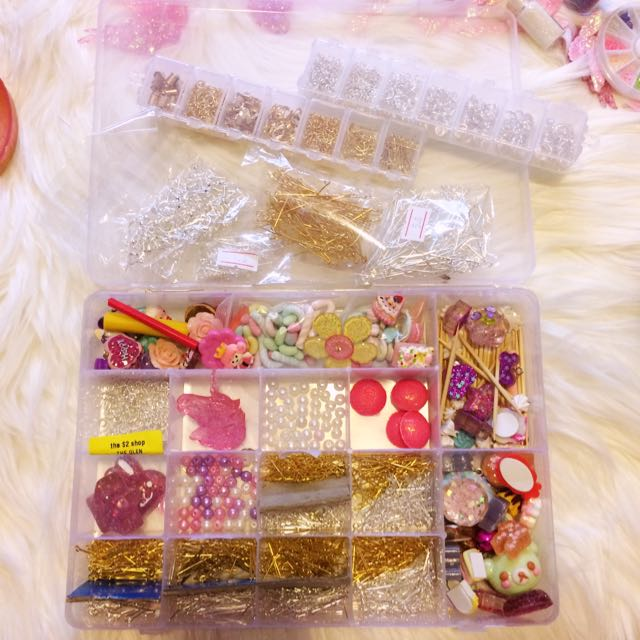 CRAFT Set Jewellery Pack Earrings Pastel Charms Resin Charms Deco