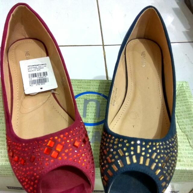 Flat Shoes Nevada Red & Navy