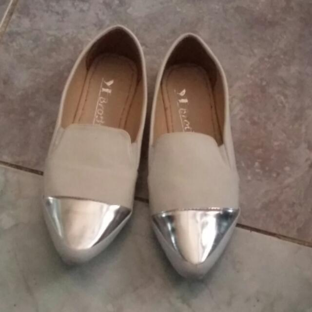 Flat Shoes White No Brand