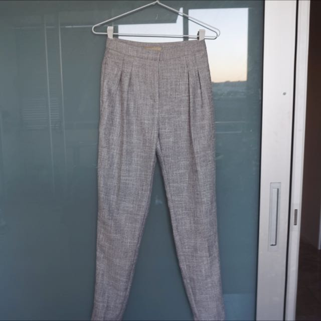 Forcast Grey High Waisted Pants