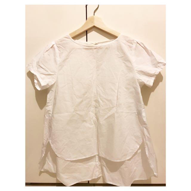 $100運費自付Globalwork 日本帶回 前短後長 棉質挺版上衣