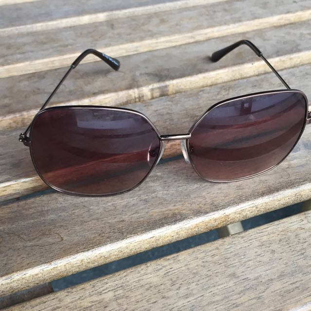 Gold And Tan Sunglasses