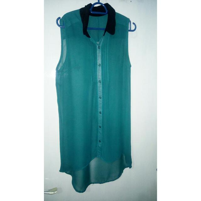 Green Chiffon Sleeveless