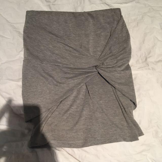 Grey Club Skirt