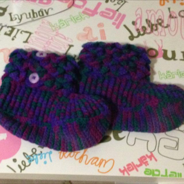 Hand Crocheted Slipper Boots