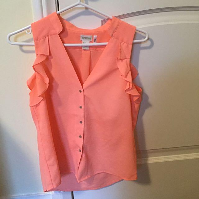 H&M Coral Blouse Size 4