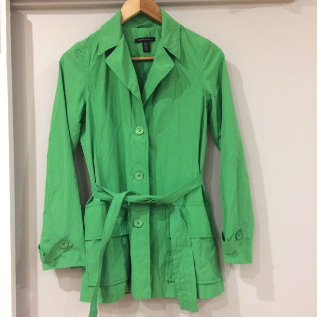 Kenneth Cole Trench Coat Jacket - Apple Green, XS
