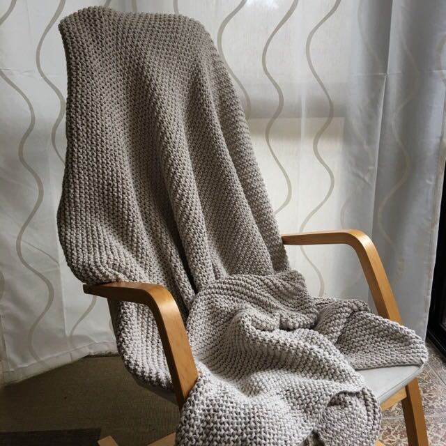 ON HOLD Knitted Country Road Blanket 180cm x 130cm