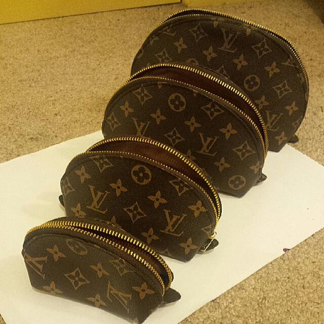 8f36609a036 Louis Vuitton 4 Set Cosmetic Pouch REPLICA, Women s Fashion, Bags   Wallets  on Carousell