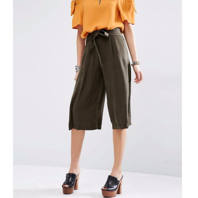 MANGO CASUAL Front Tie Culottes / Gaucho Pants Tag Price 1,995