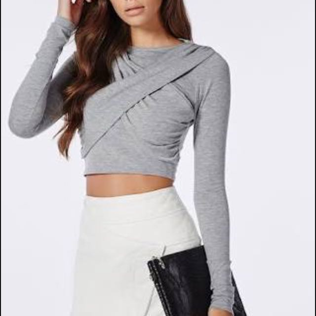 Missguided Cross Over Crop Top