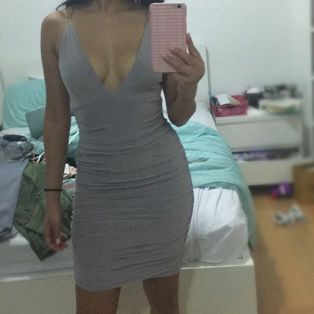 Missguided Slinky Double Strap Riches Bodycon Dress