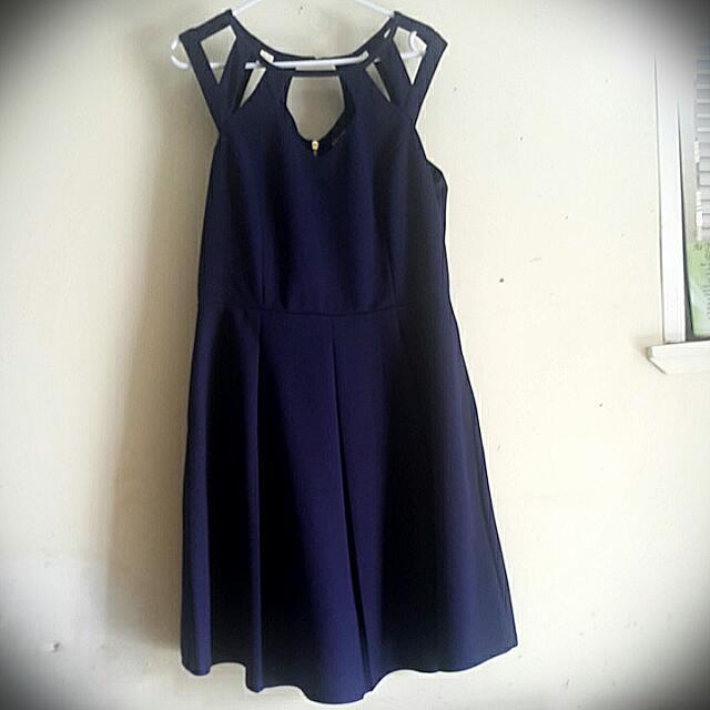 Navy Blue City Chic Dress