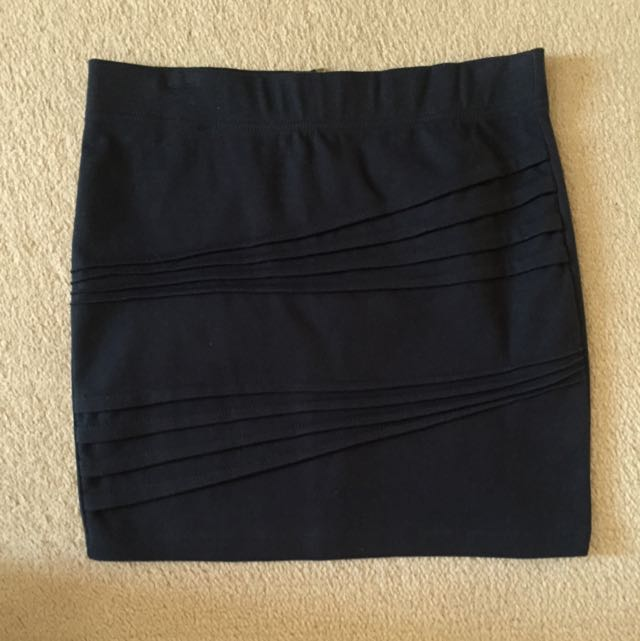 Navy Blue Dotti Skirt - Size 8